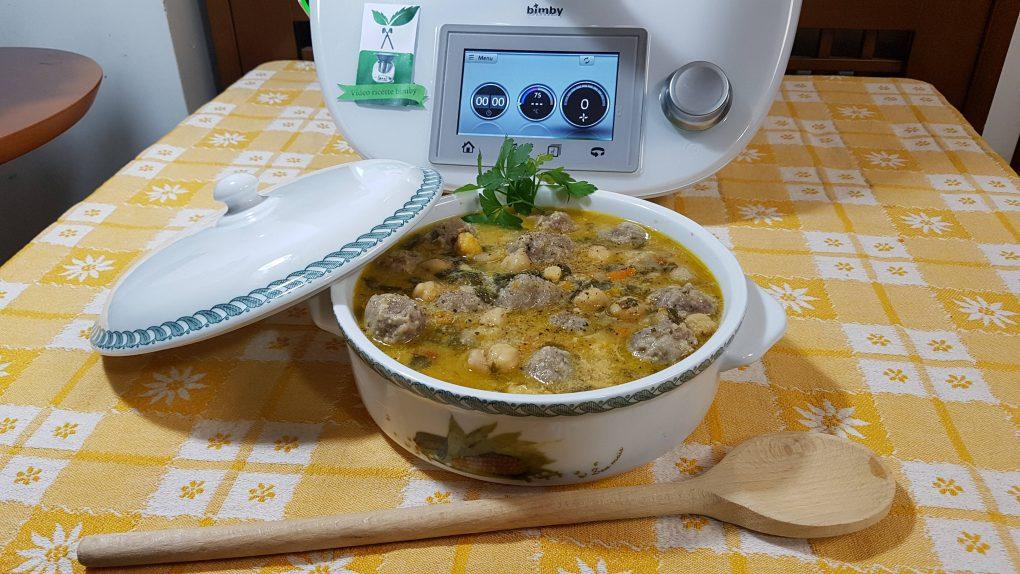Zuppa di ceci e polpettine bimby per TM5 e TM31