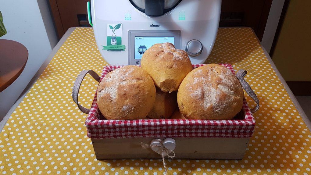 Panini veloci con pomodori secchi sott'olio bimby per TM5 e TM31