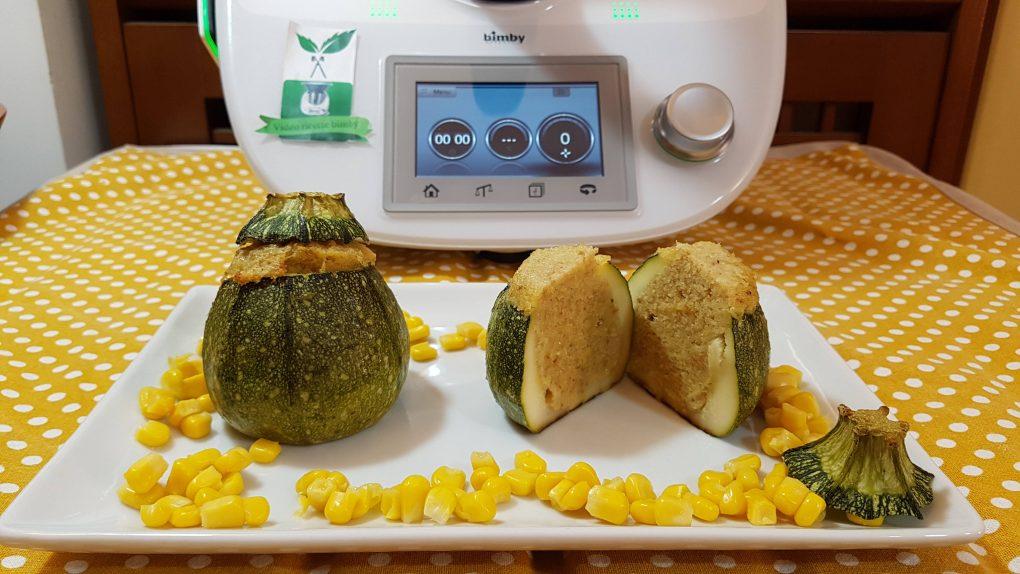 Zucchine tonde ripiene bimby per TM5 e TM31