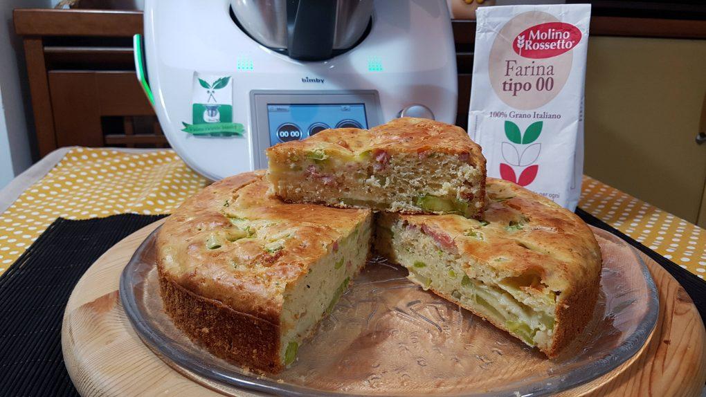 Torta salata di zucchine e speck