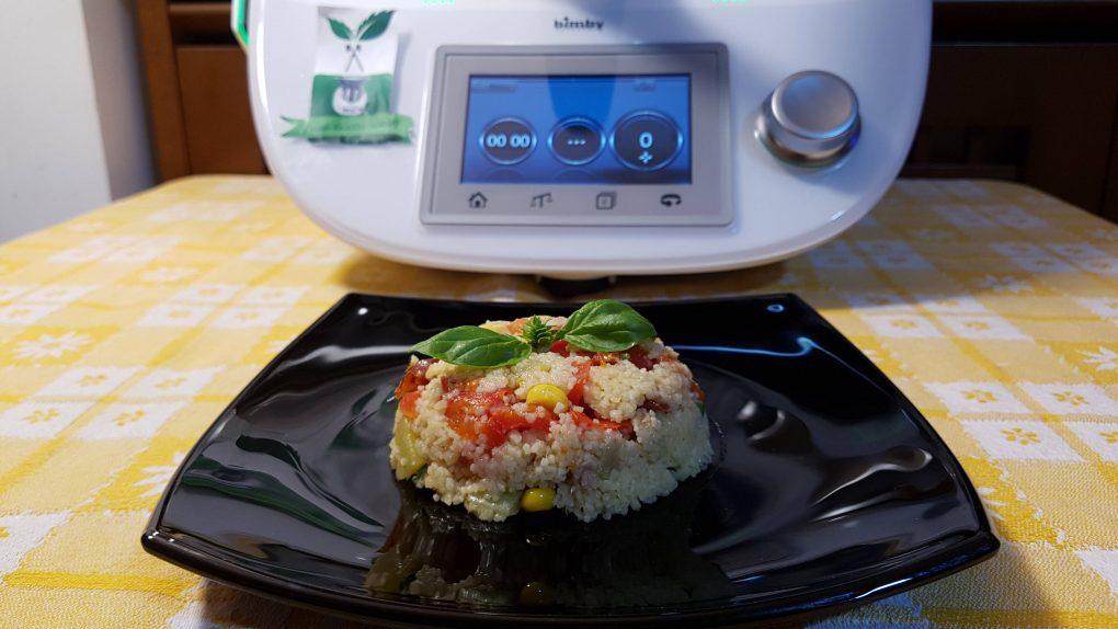 Cous cous con tonno peperoni e zucchine