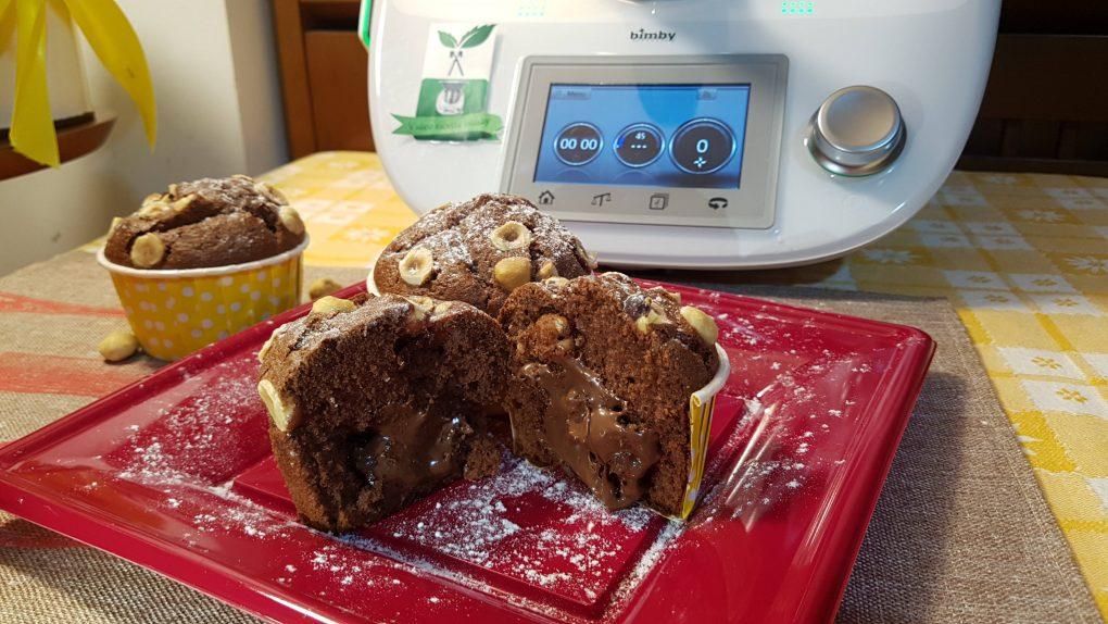 Muffin nutella e nocciole