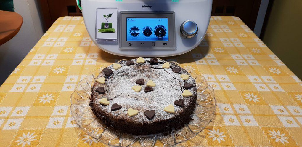 Torta variegata cioccolato fondente e mascarpone