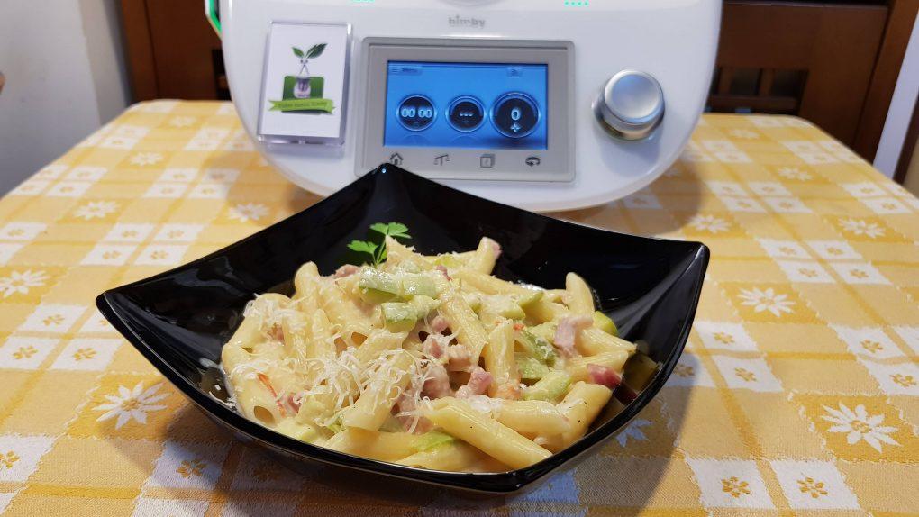 Pasta risottata zucchine philadelphia e pancetta