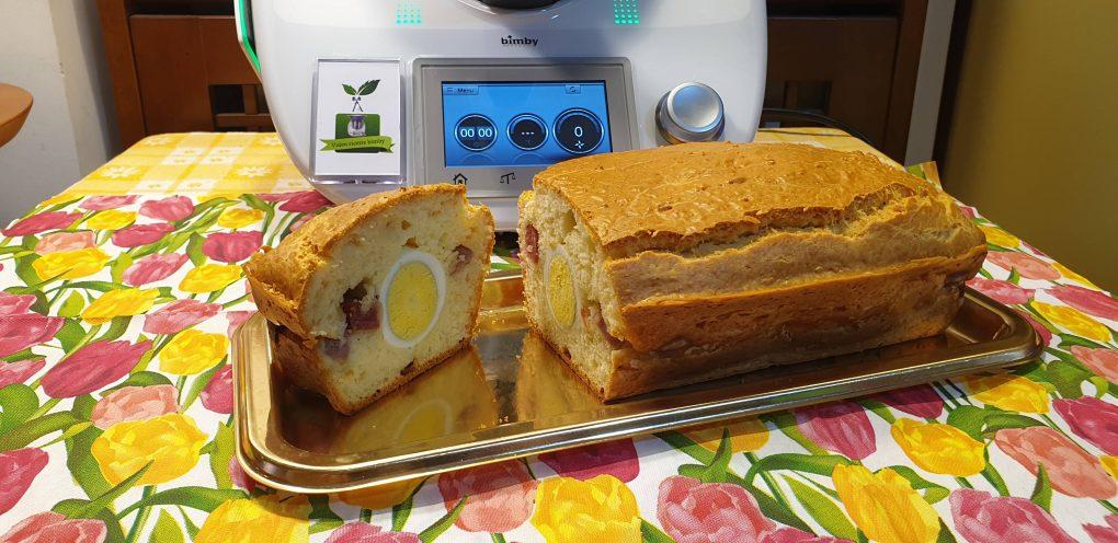 Plumcake con uova sode