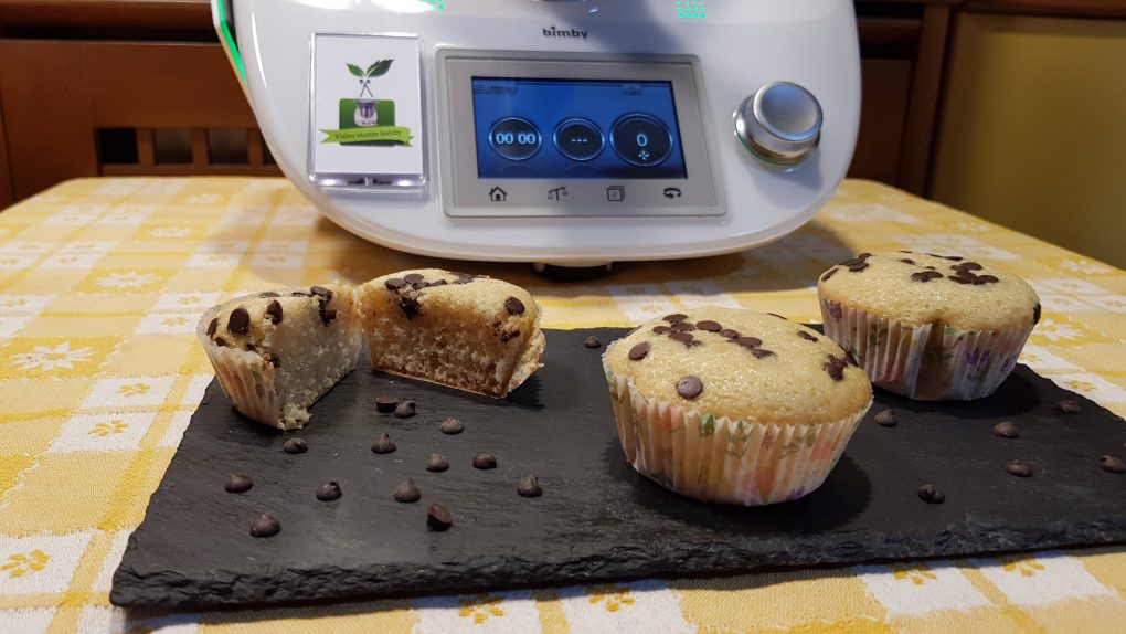 Muffins di albumi e gocce di cioccolato