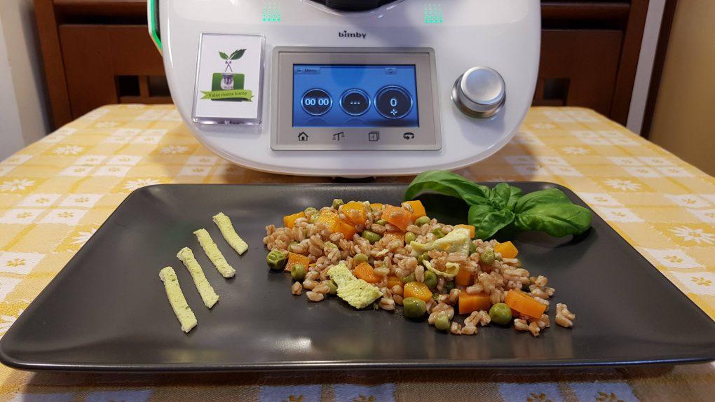 Farro con piselli e carote