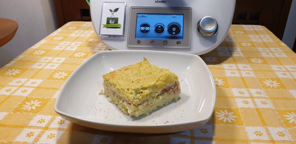 Torta di riso e zucchine ripiena