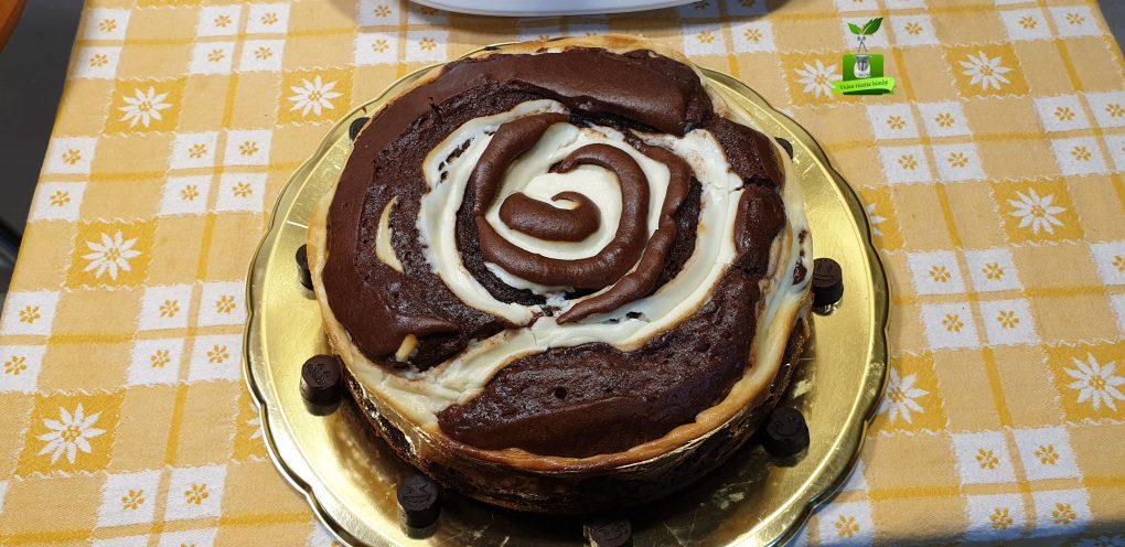 Torta girella cacao e ricotta
