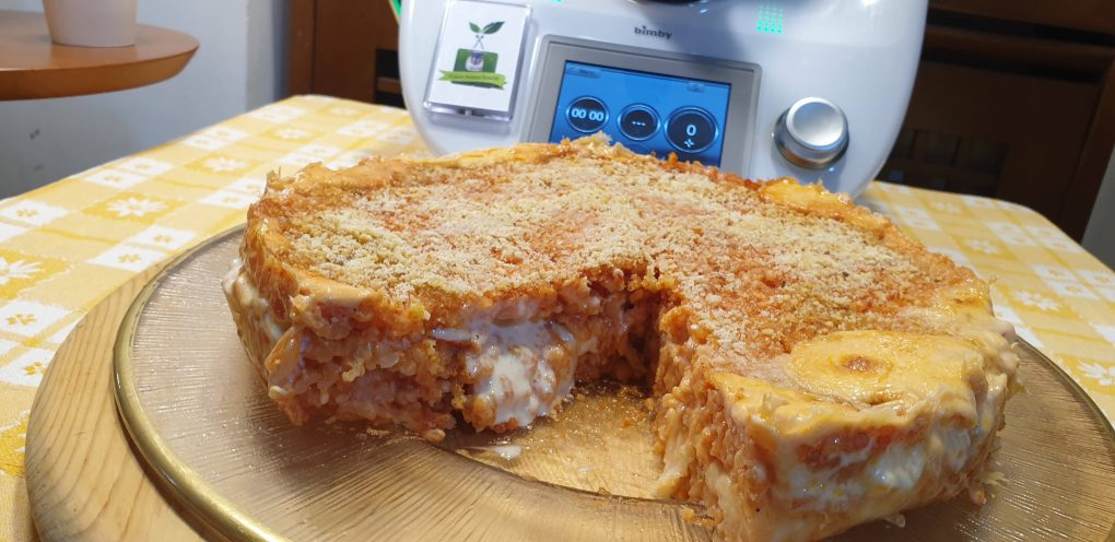 Torta di riso al pomodoro filante