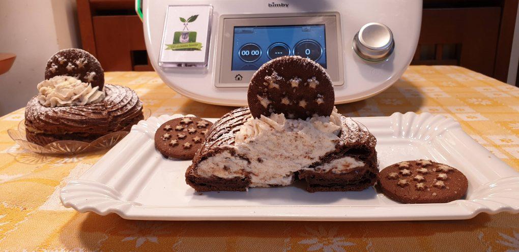 Zeppole al cacao con crema pan di stelle