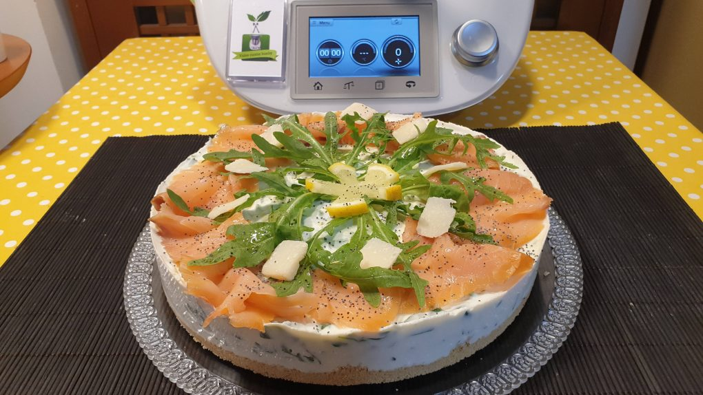 Cheesecake salmone e rucola