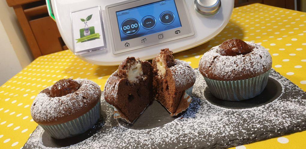 Muffins al cacao con sorpresa