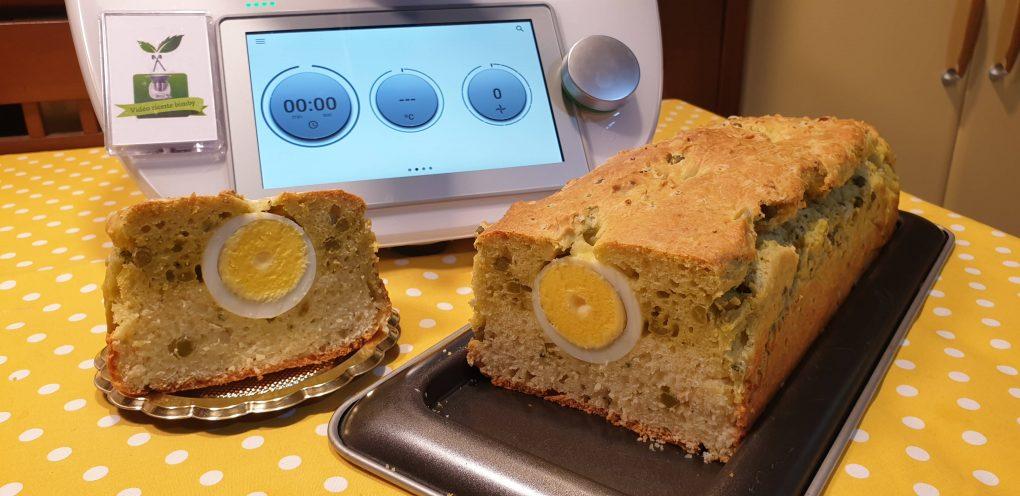Plumcake con uova e piselli
