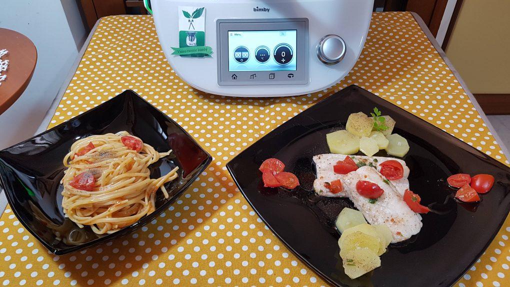 Pasta con sugo di pesce spatola-sciabola in umido bimby per TM5 e TM31