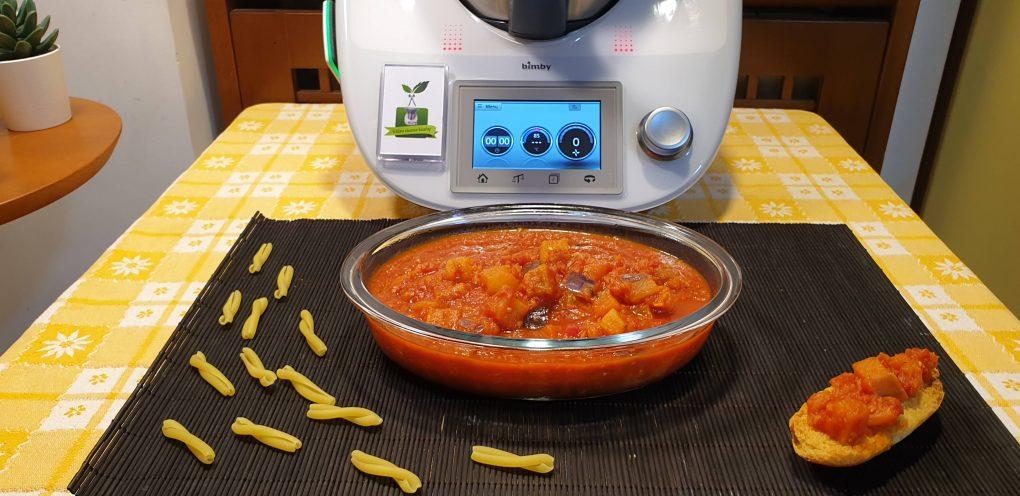 Ragù di melanzane preparato con il bimby