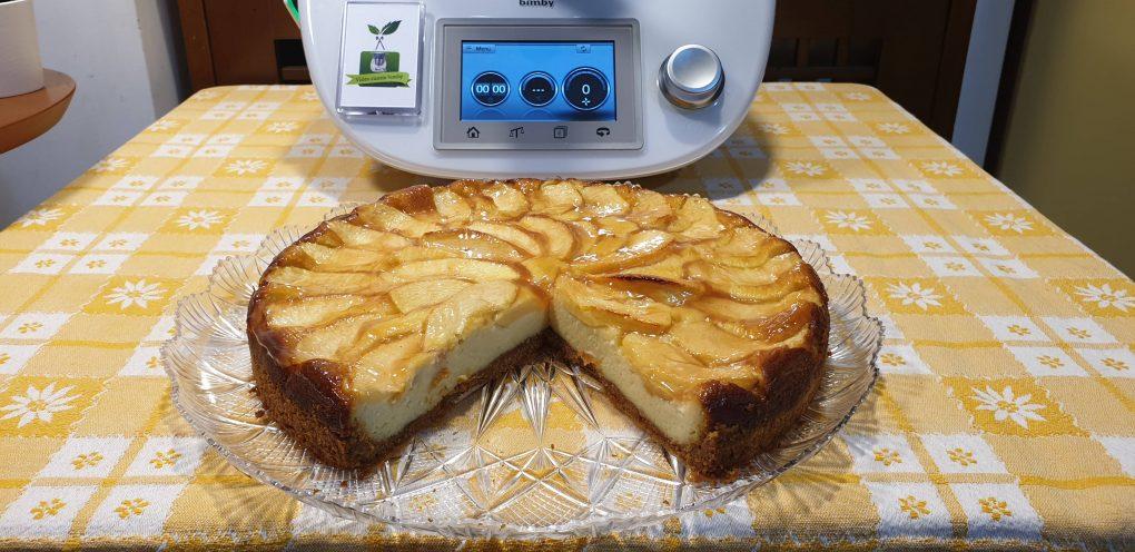 Cheesecake cotta alle mele