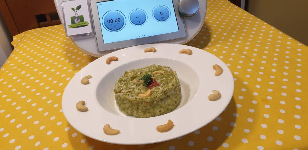 Risotto broccoli ed anacardi