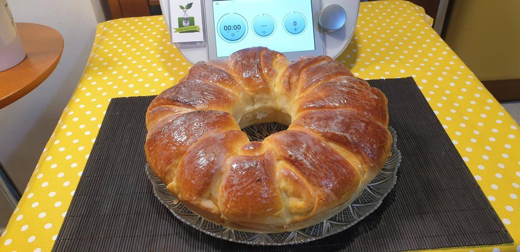 Pan brioche con latte condensato