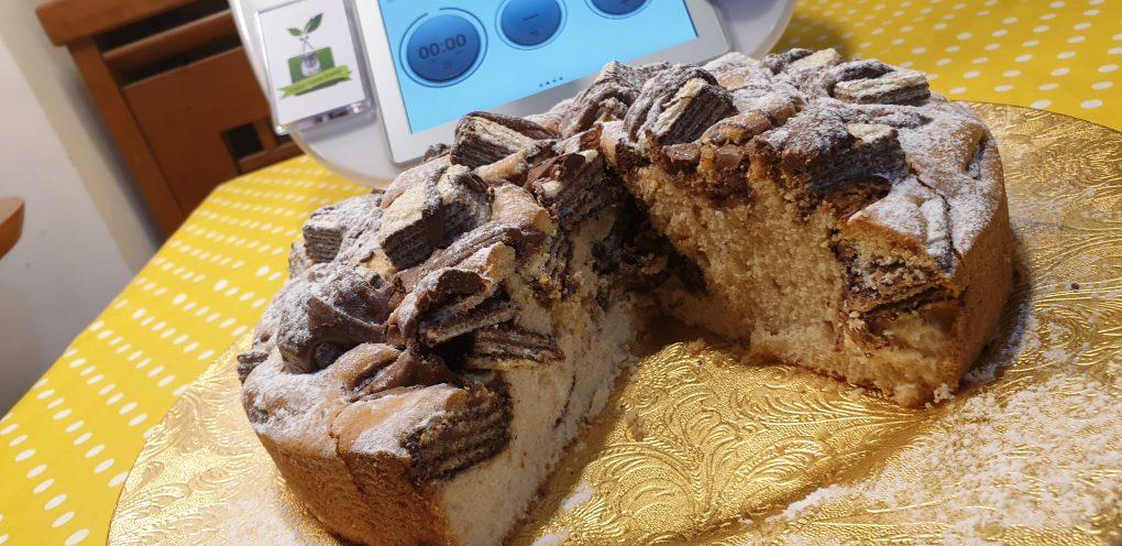 Torta soffice con wafer e nutella