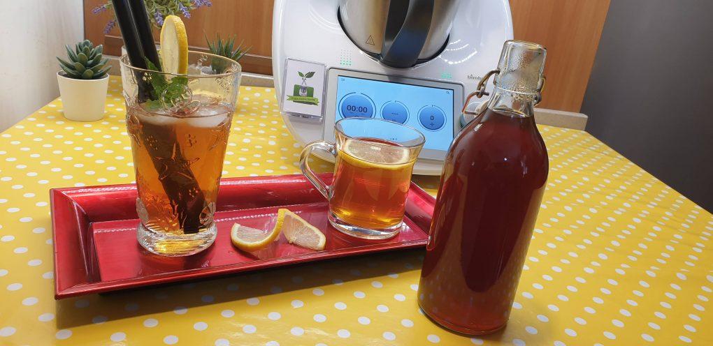 Sciroppo di tè al limone